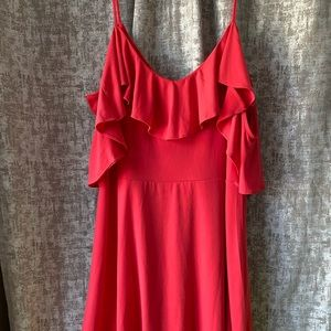 Great condition coral pink Express dress